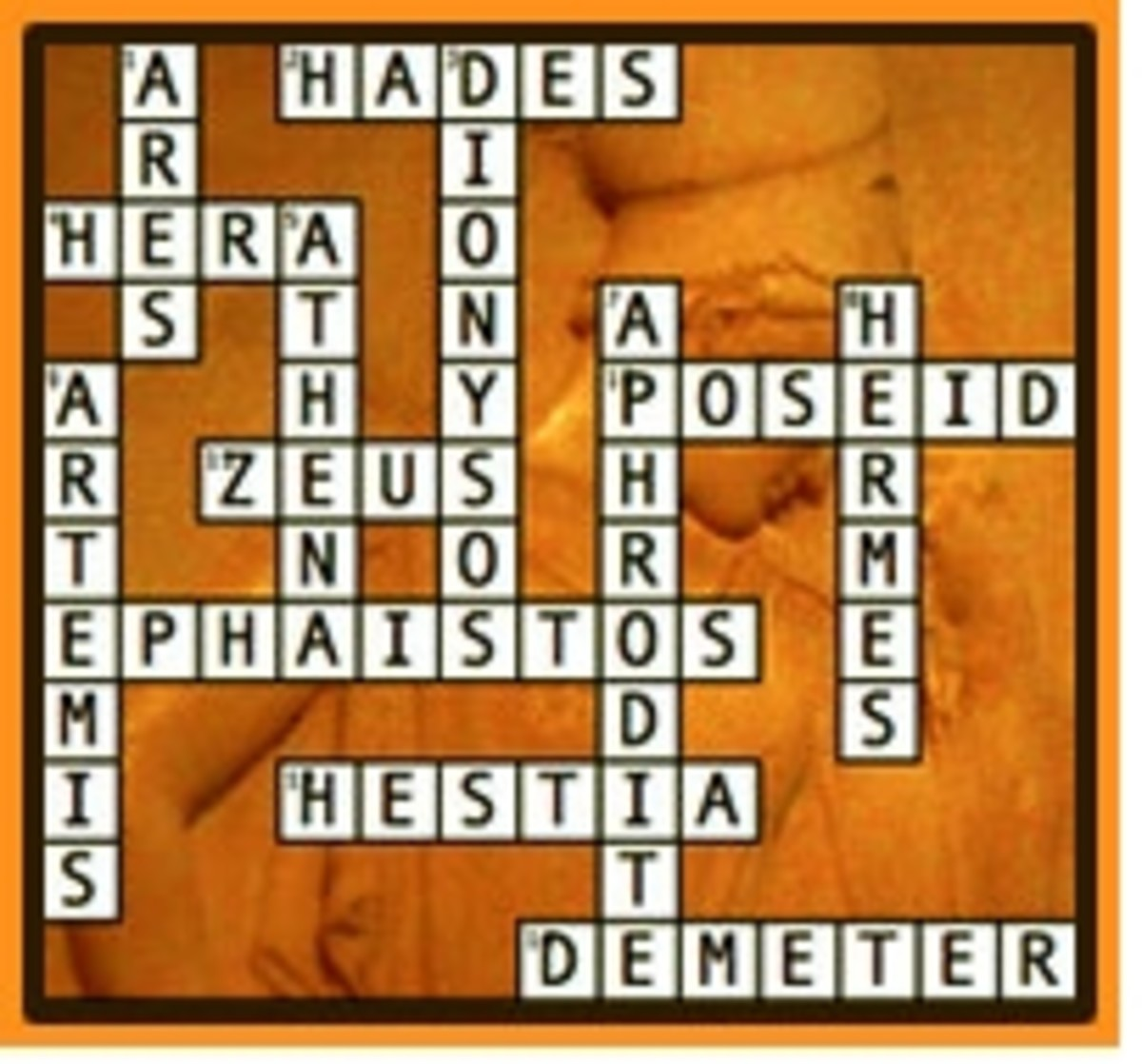Greek Gods Crossword and Word Search Puzzles