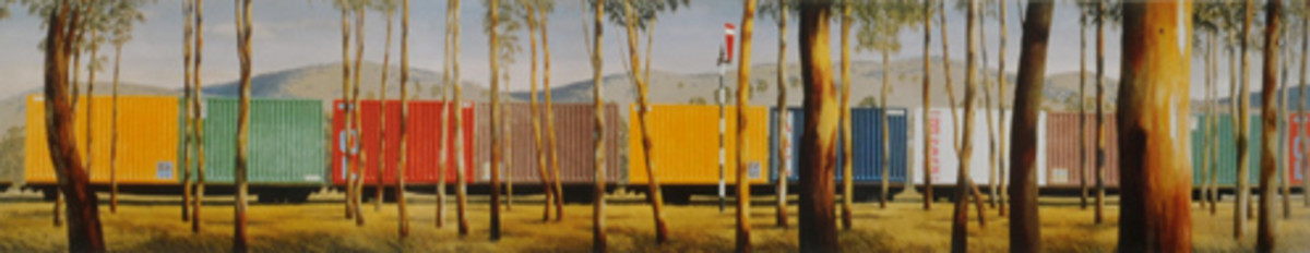 Container Train by Jeffrey Smart