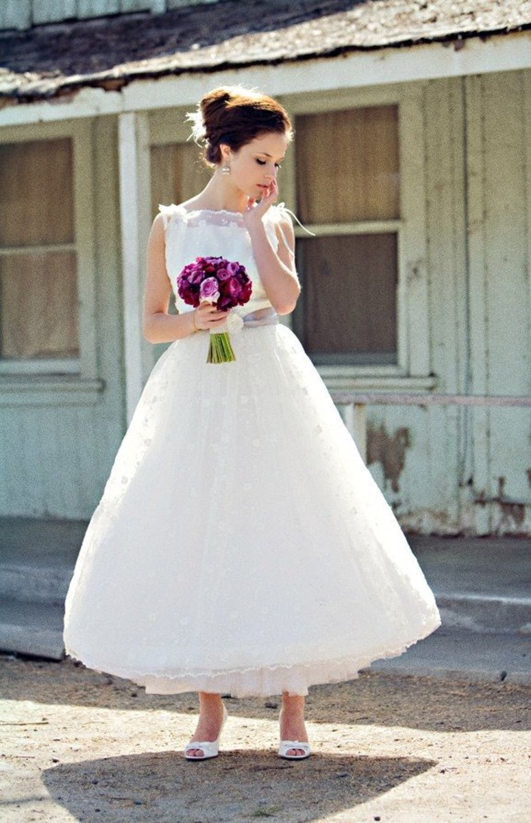 This is a vintage inspired gown.