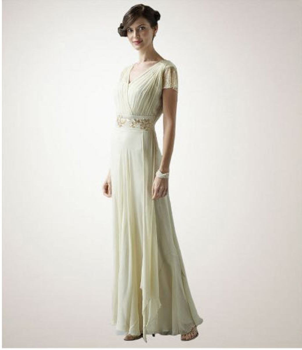 Updated version of a 1940s wedding gown