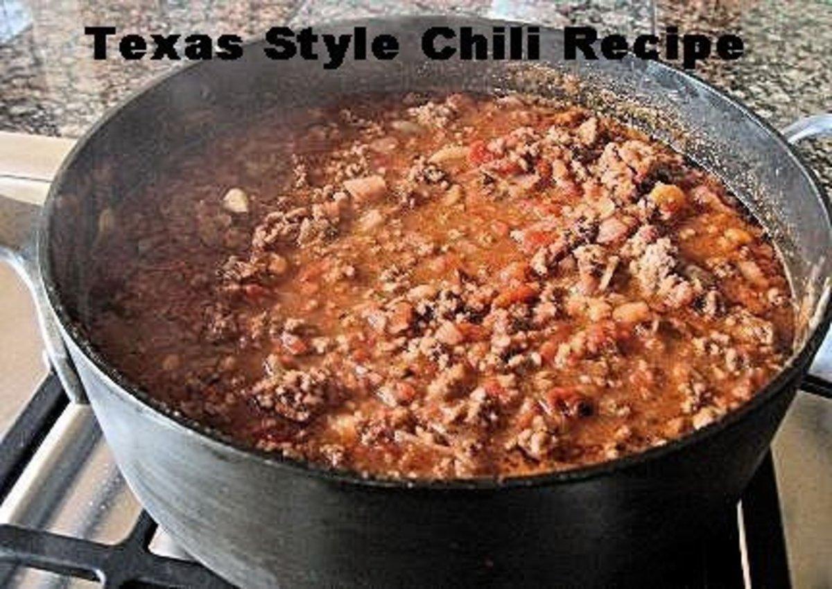 Recipes of texas chili