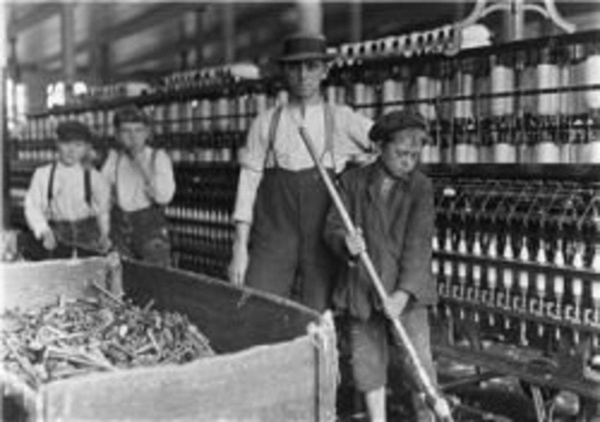 Children working in the mills