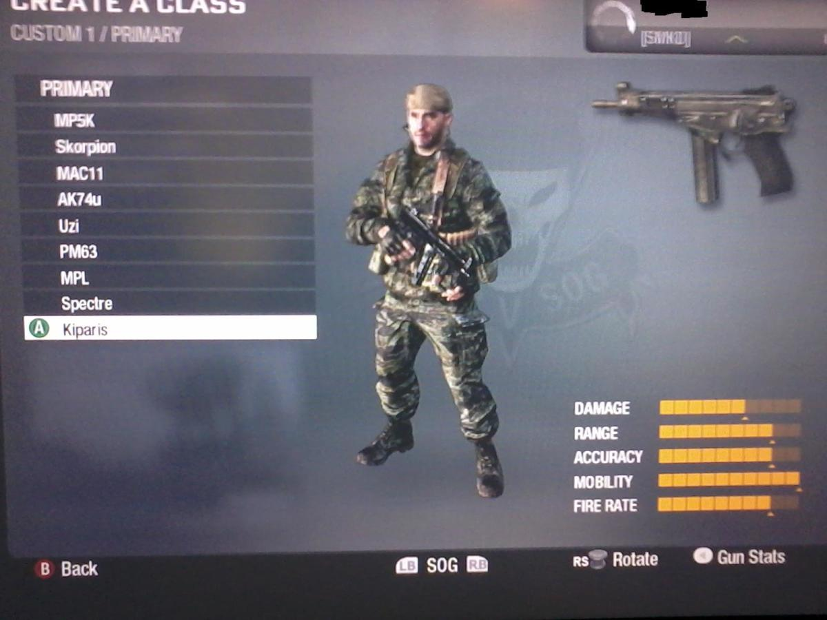 Call of Duty Black Ops Classified Weapons, Gun List. Gun Stats and Pictures.