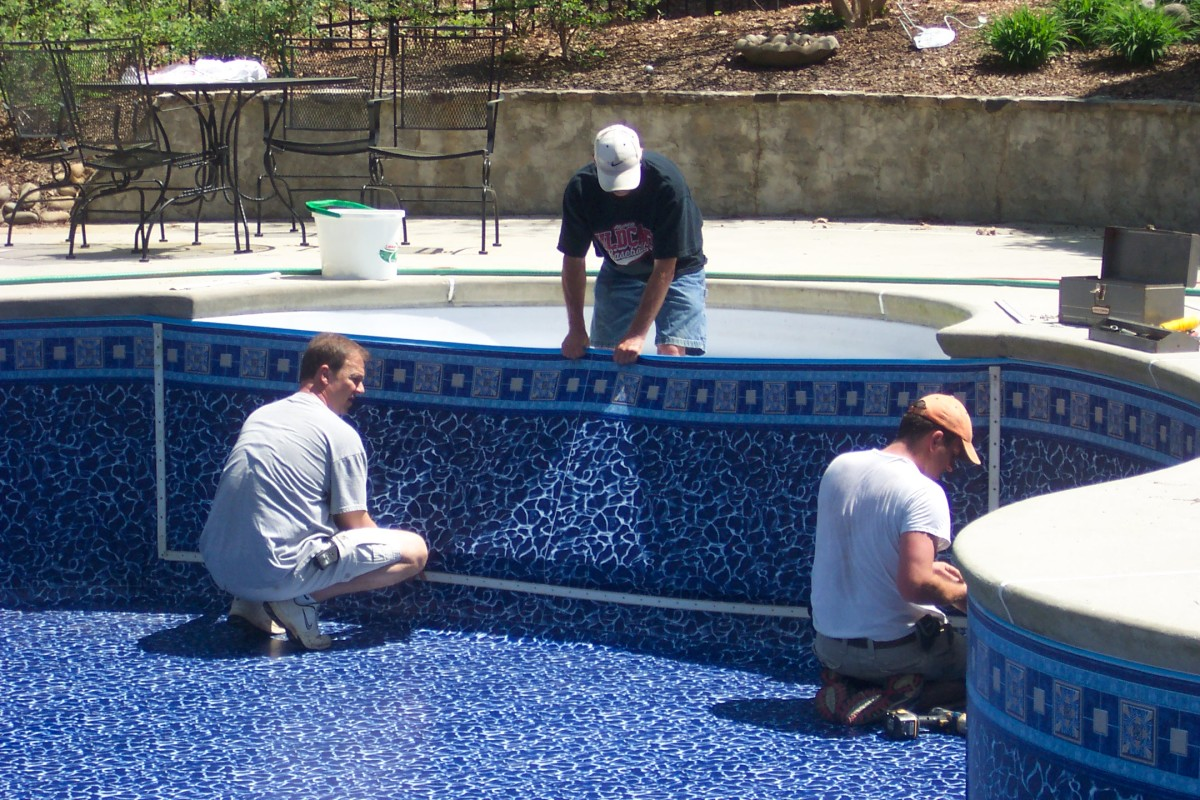 Inground Swimming Pool Liners Tips On Replacing Pool Liners By A Pool Owner