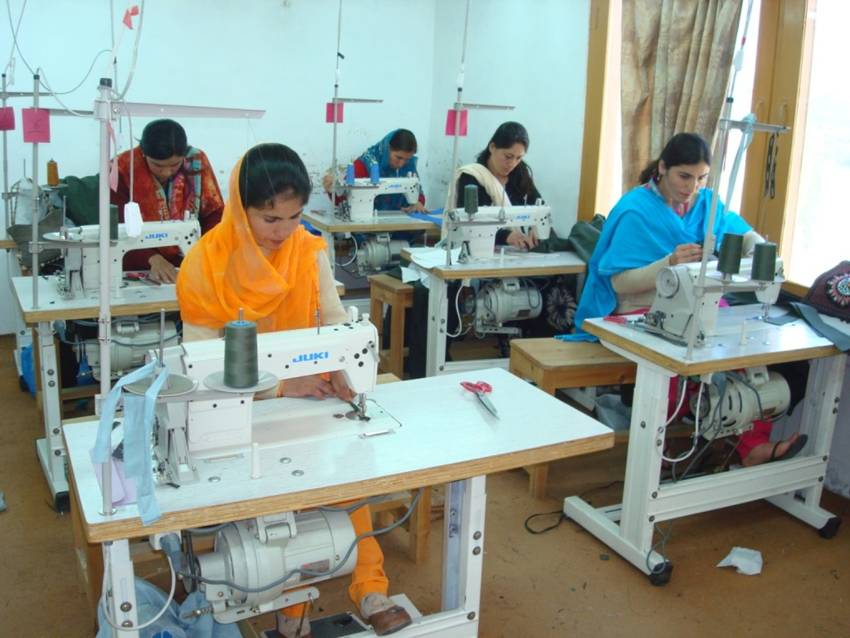 Garment factory - an example of labor-intensive unit