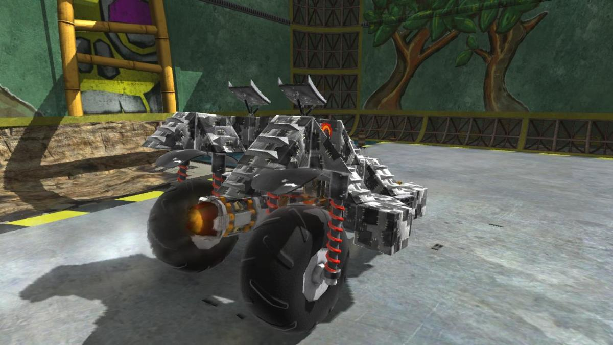 Players unlock parts as they play and can use them to build a vehicle.