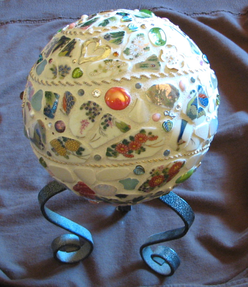 How to Mosaic a Garden Ball