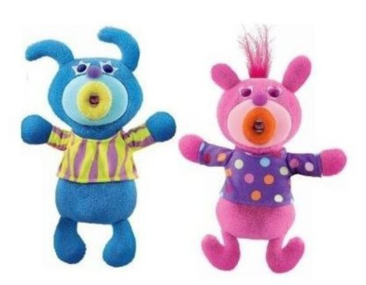 SingAMaJig Deluxe Singing Plush Figures Pink and Teal Duo