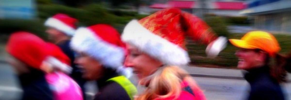 Santa Hats on a Run