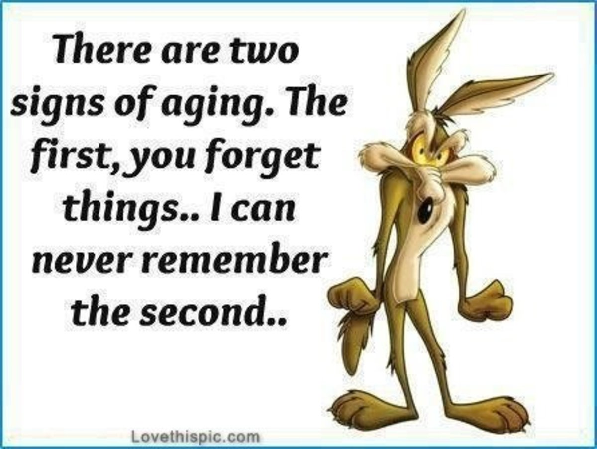 Funny quote on aging.