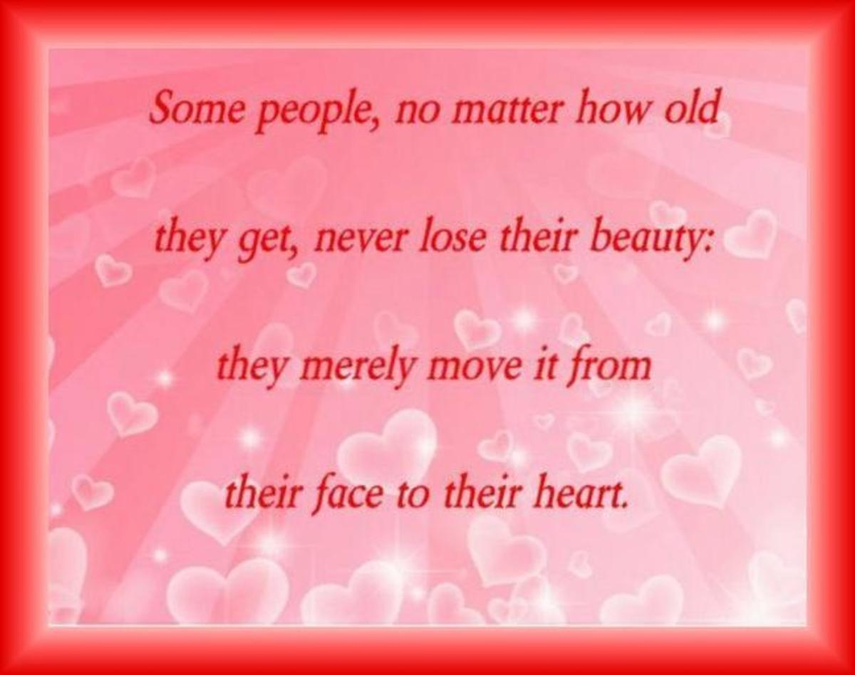 Beautiful saying about aging.