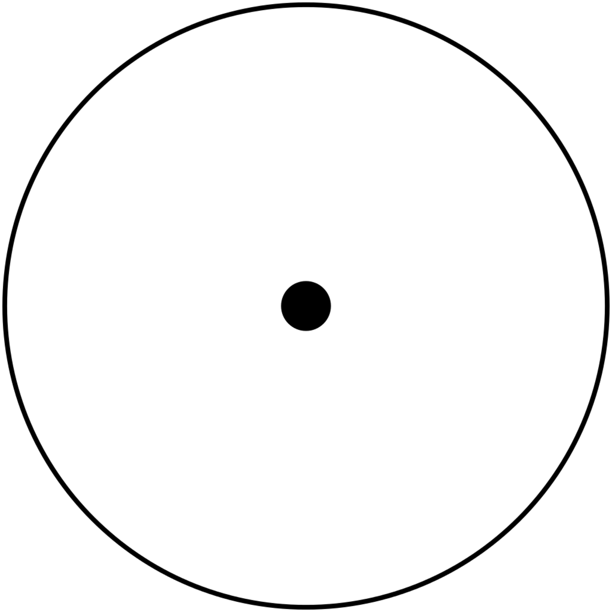 "The monad, or ""One"", ubiquitous in Greek philosophy, was symbolized as a dot within a circle."