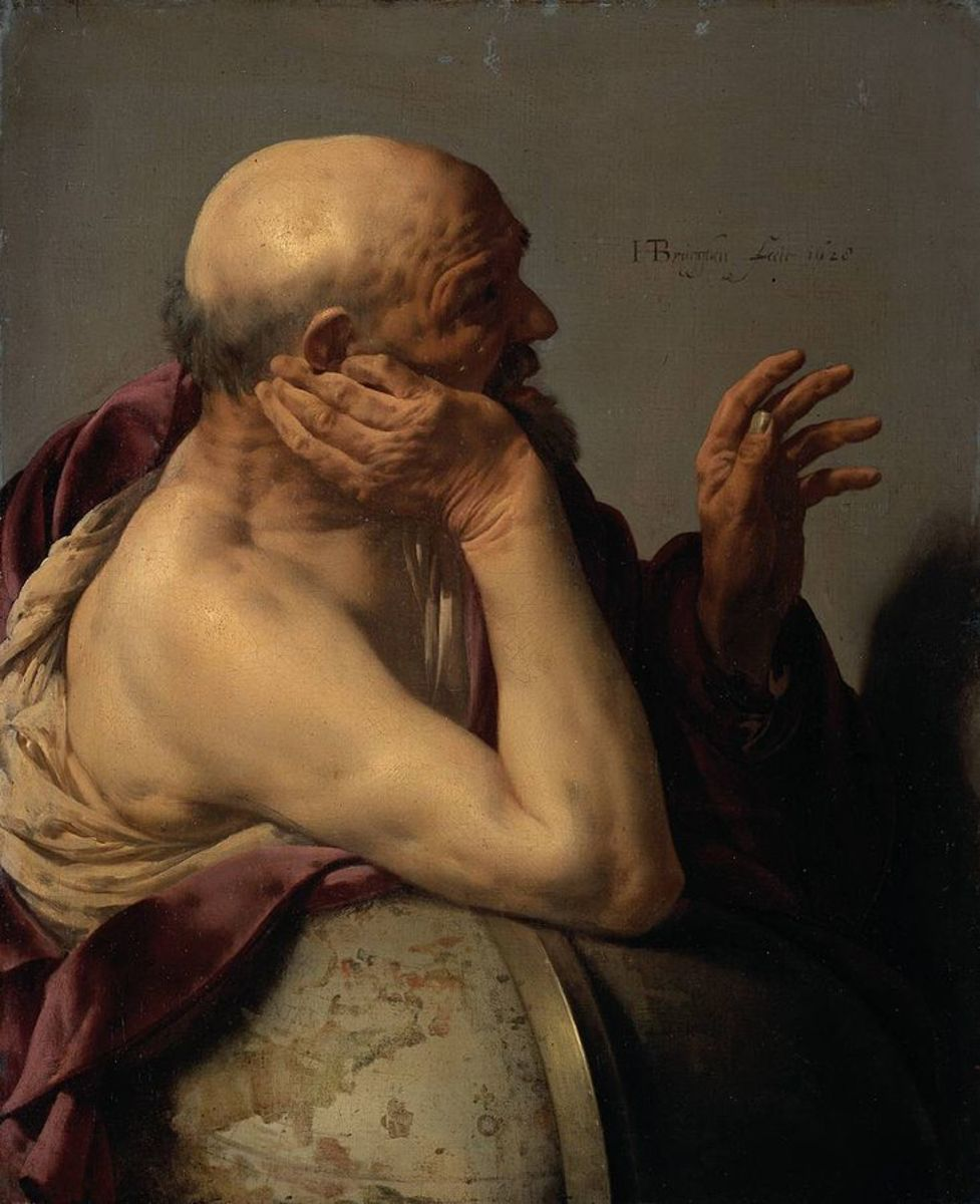 Heraclitus - Oil on Canvas by Hendrick Jansz ter Brugghen - Public Domain