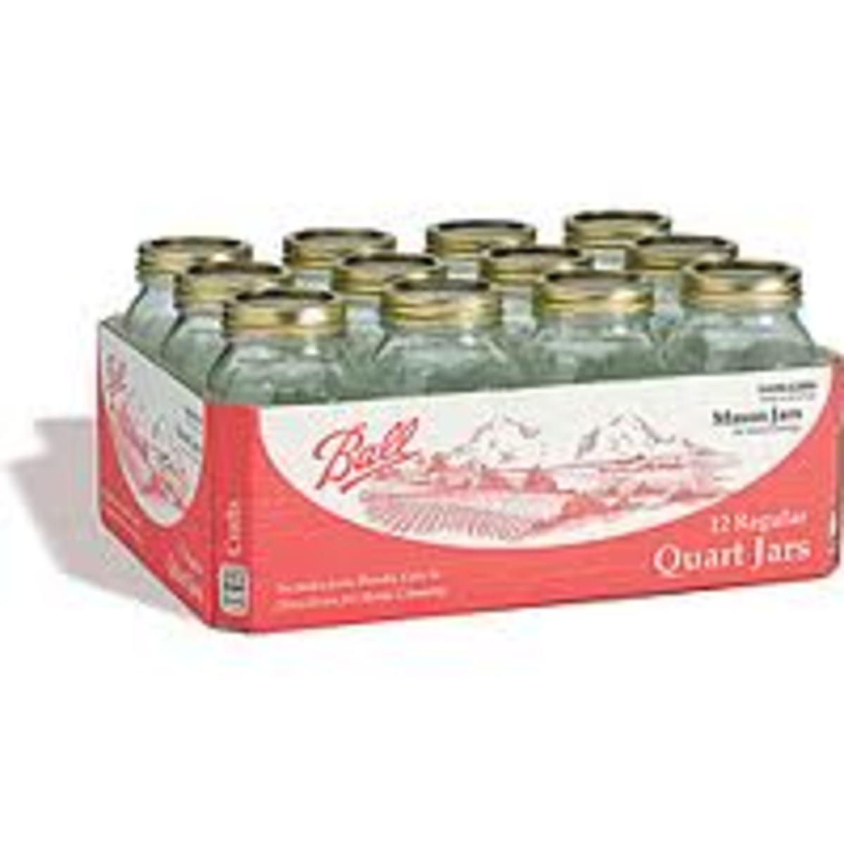 Mason jars quart