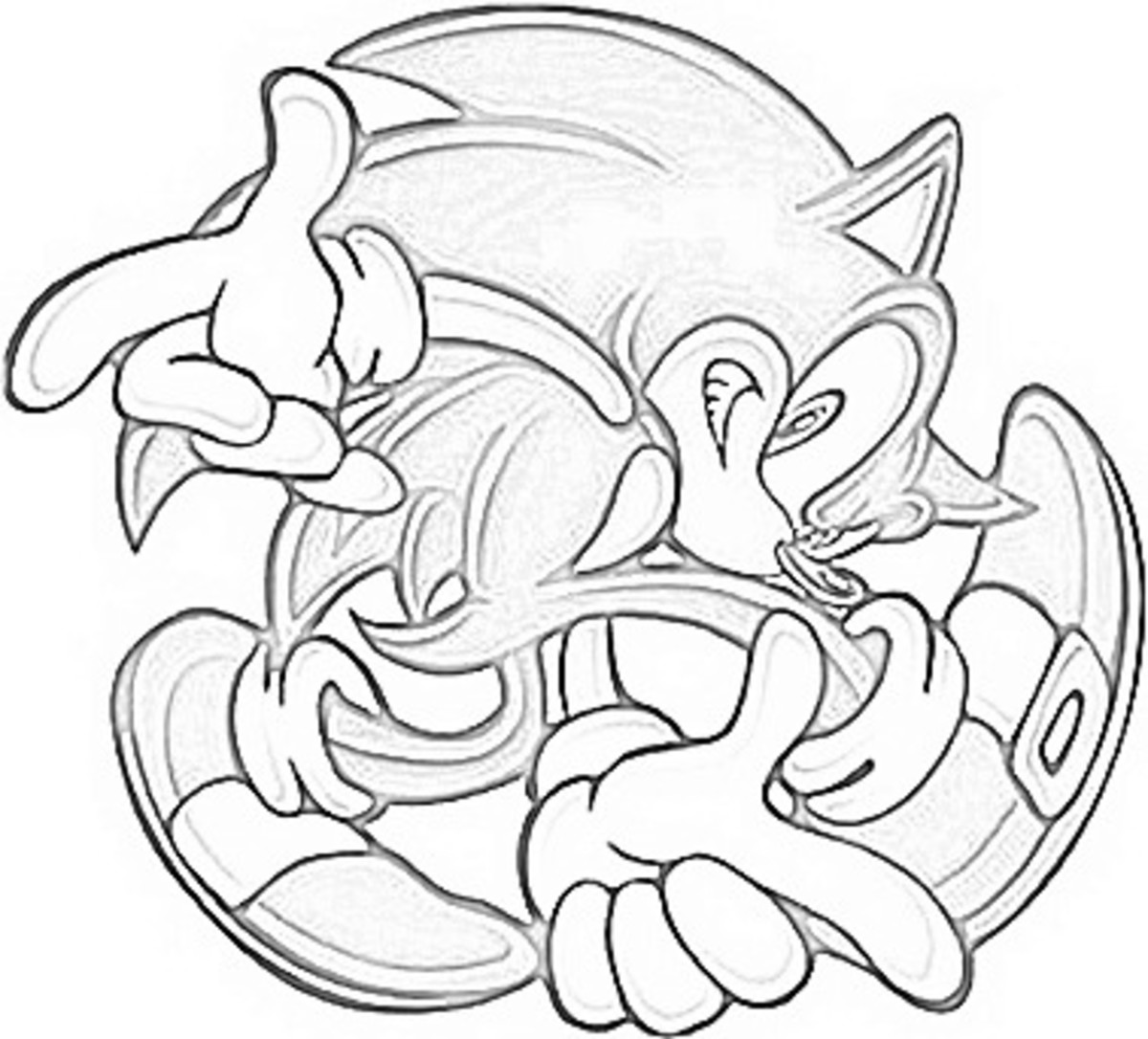 Sonic Pose7 - Sonic Hedgehog Kids Colouring Pictures to Print-and-Color Online