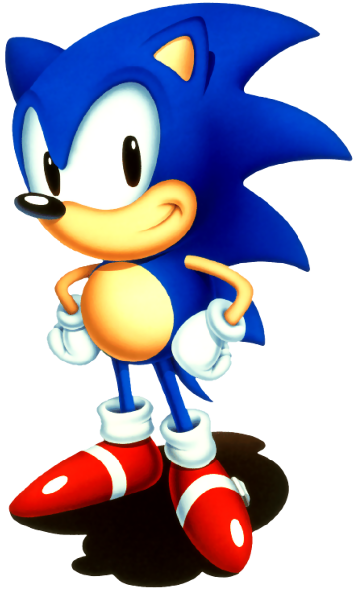 Sonic Hedgehog - Coloring Colour Sample