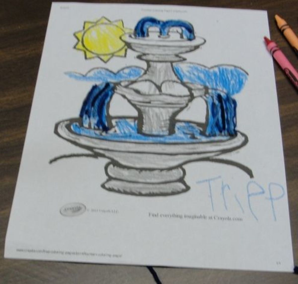 Juan Ponce de Leon Fountain of Youth coloring sheet