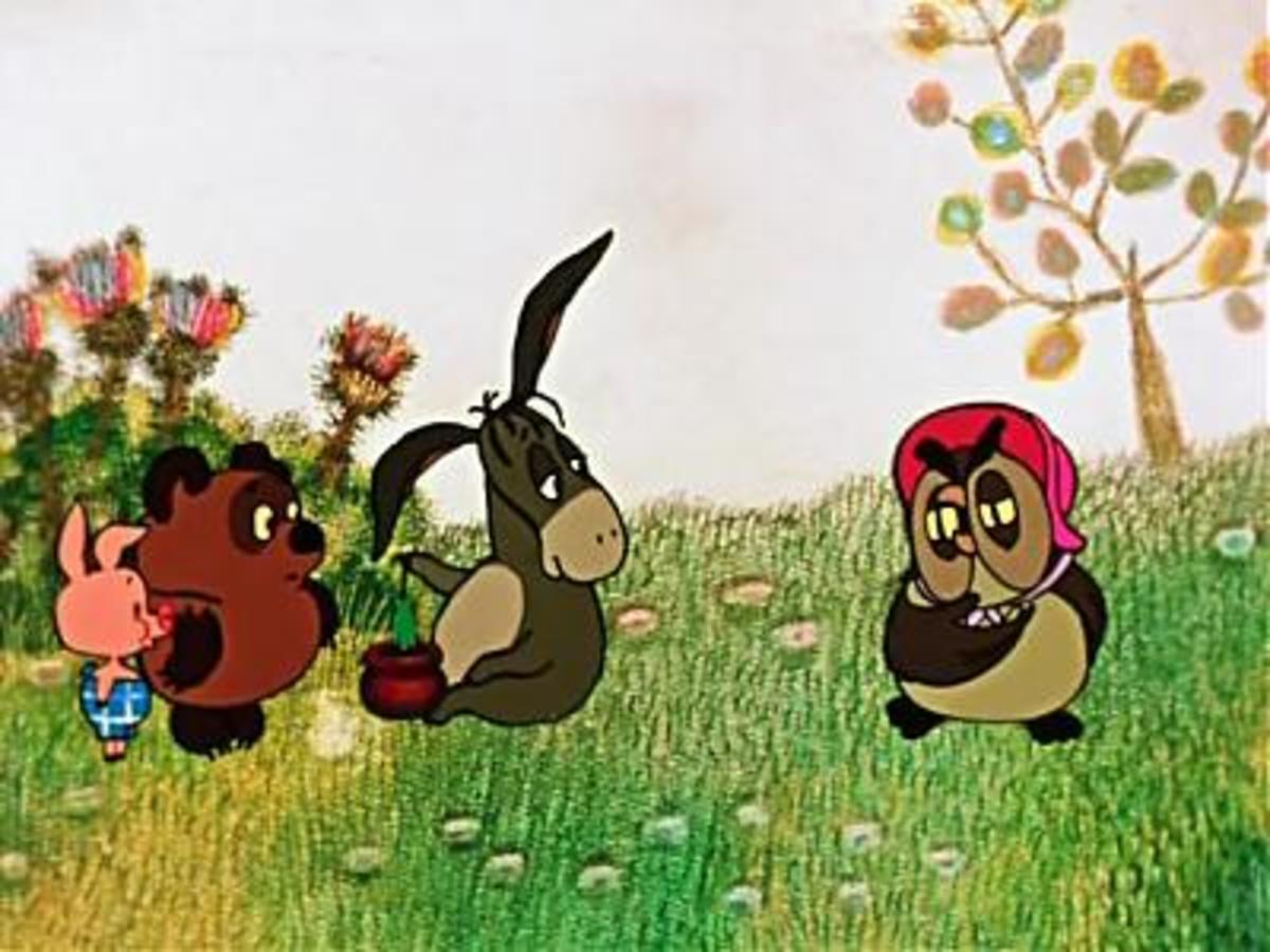 Winnie the Pooh and his friends.