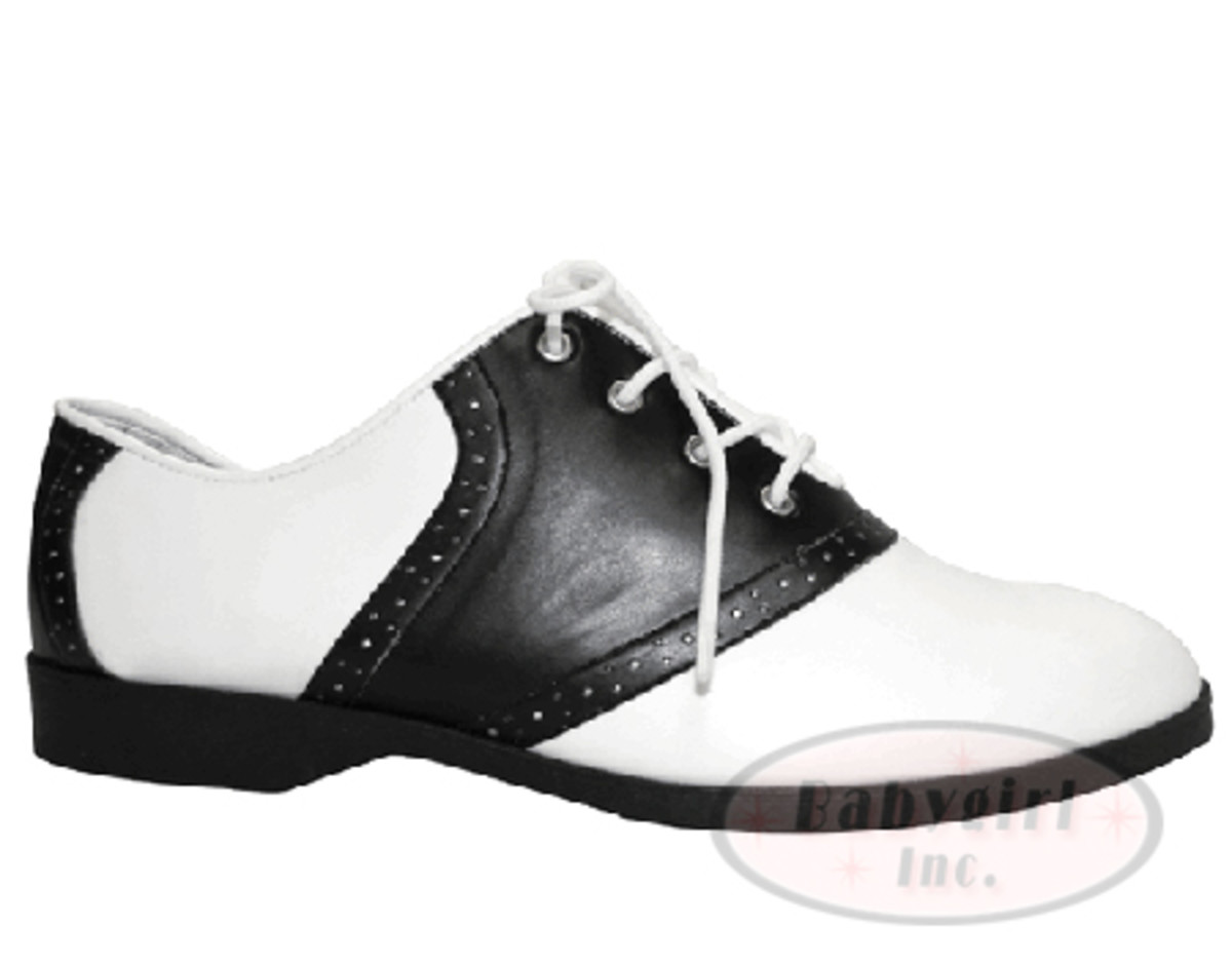 A classic pair of lady's saddle shoes.