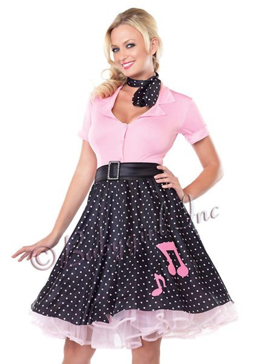Rockin' polka dot poodle skirt.