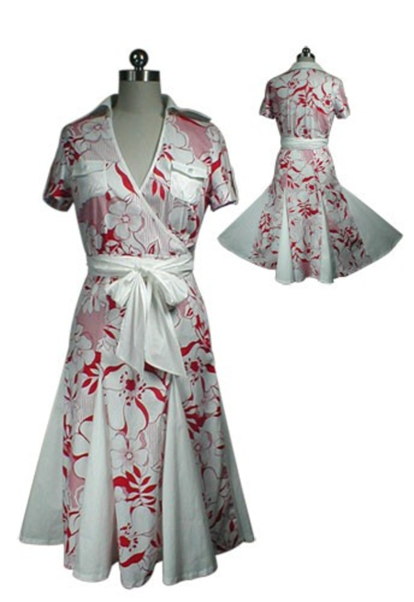 Swingin' 40s style dress from starletsandharlets.com.