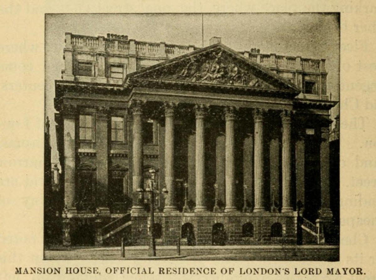 Mansion House, the Official Residence of the Lord Mayor of London