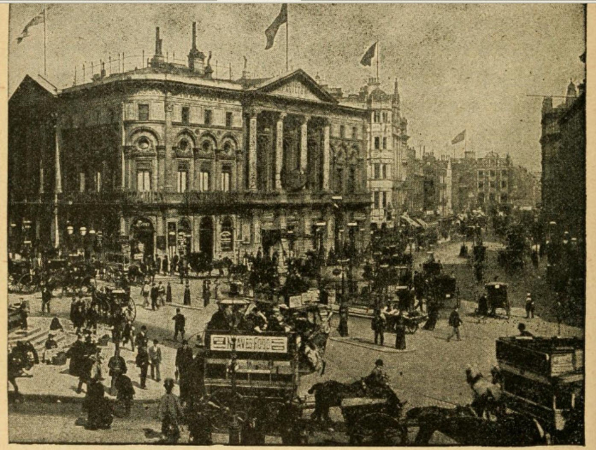Picadilly Circus, one of the most famous streets in London