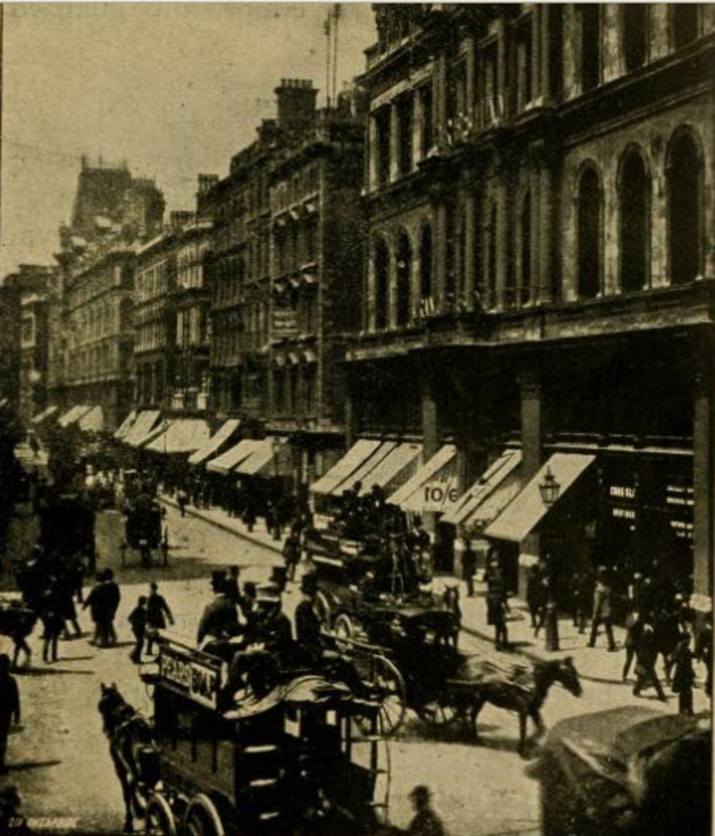 Cheapside, London. The name derives from an old word for market place. The area was then renowned for its shops - streets branching off of the main street were named Bread, Poultry, etc after the goods sold on them