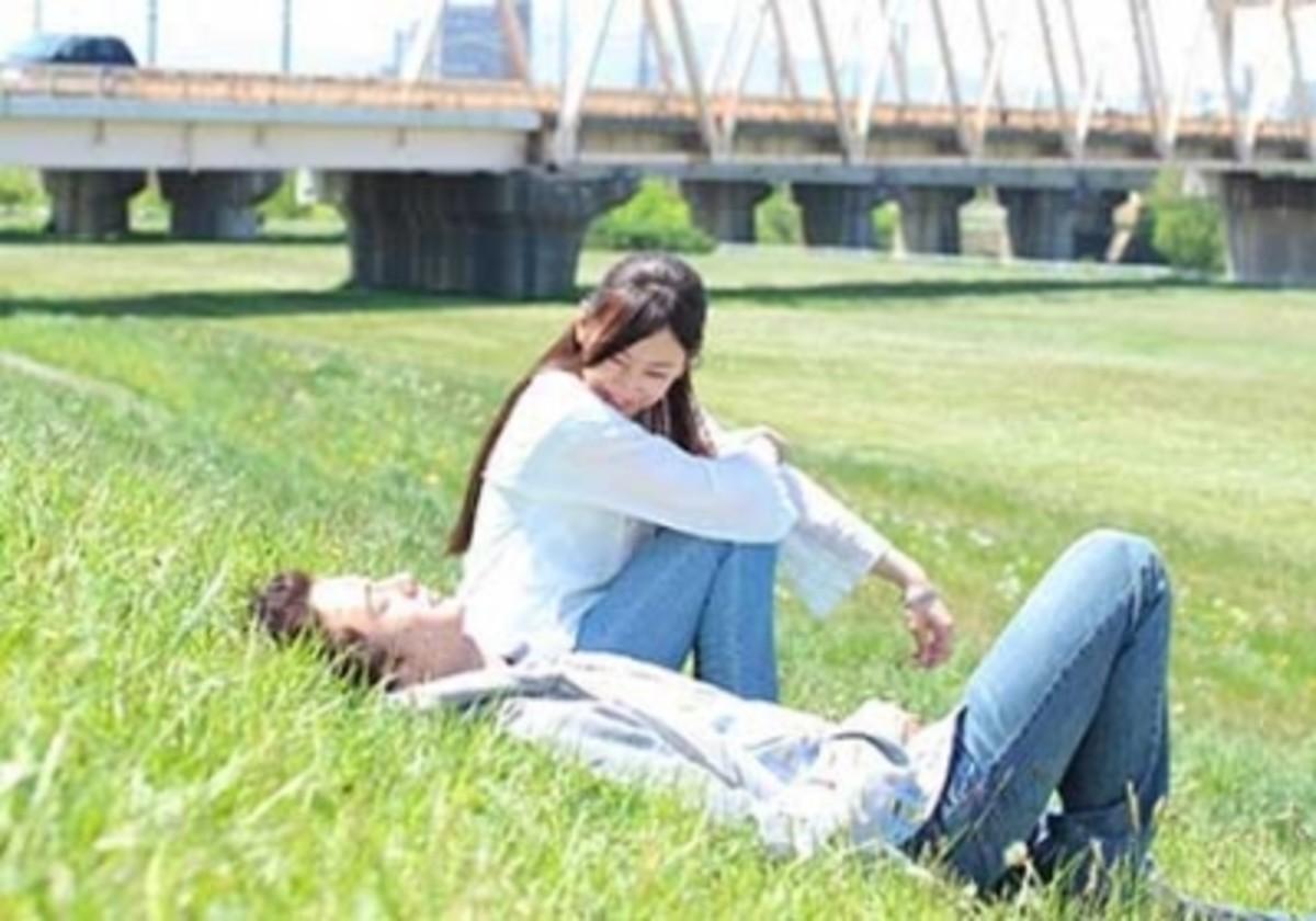"""Keiko as """"Sonoda Izumi"""" in the 2010 romance film Matataki"""