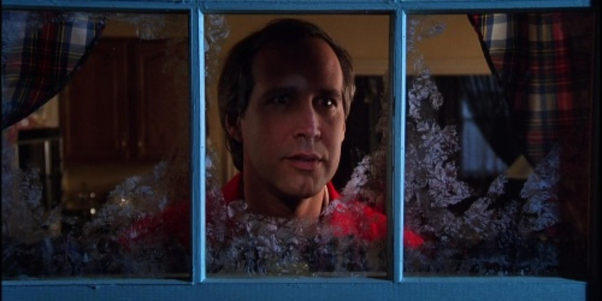 Chevy Chase as Clark Griswold in Christmas Vacation...