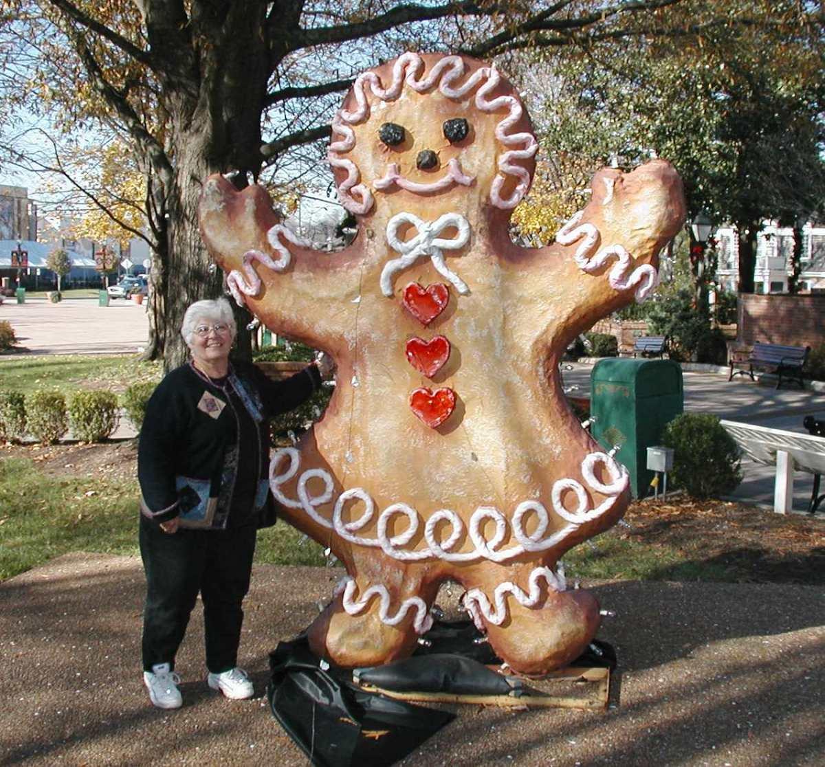 Christmas Gingerbread Girl.  Opry Land Holiday display. Nashville, TN