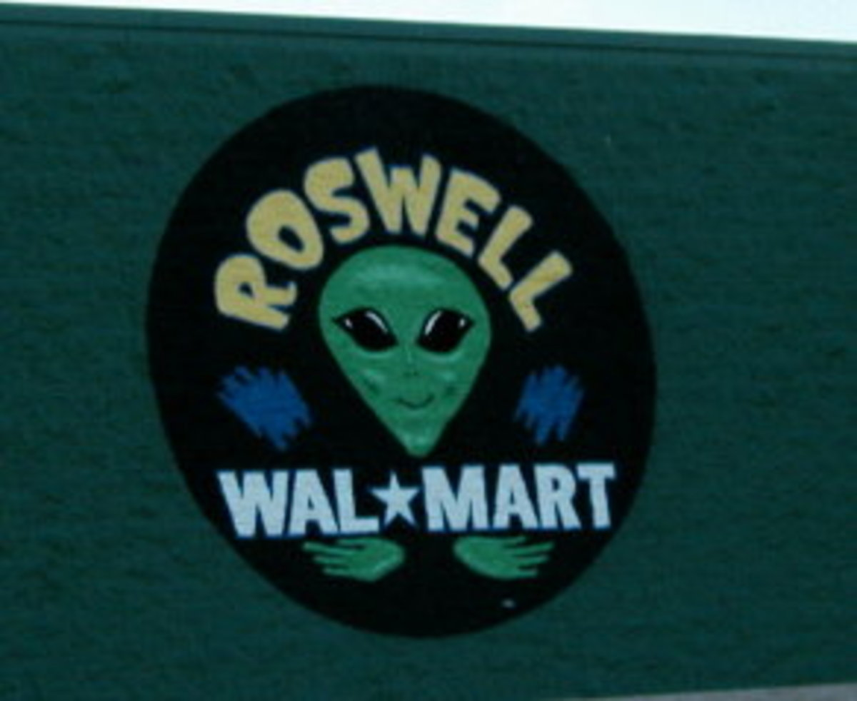 Sign on Roswell WalMart Store.