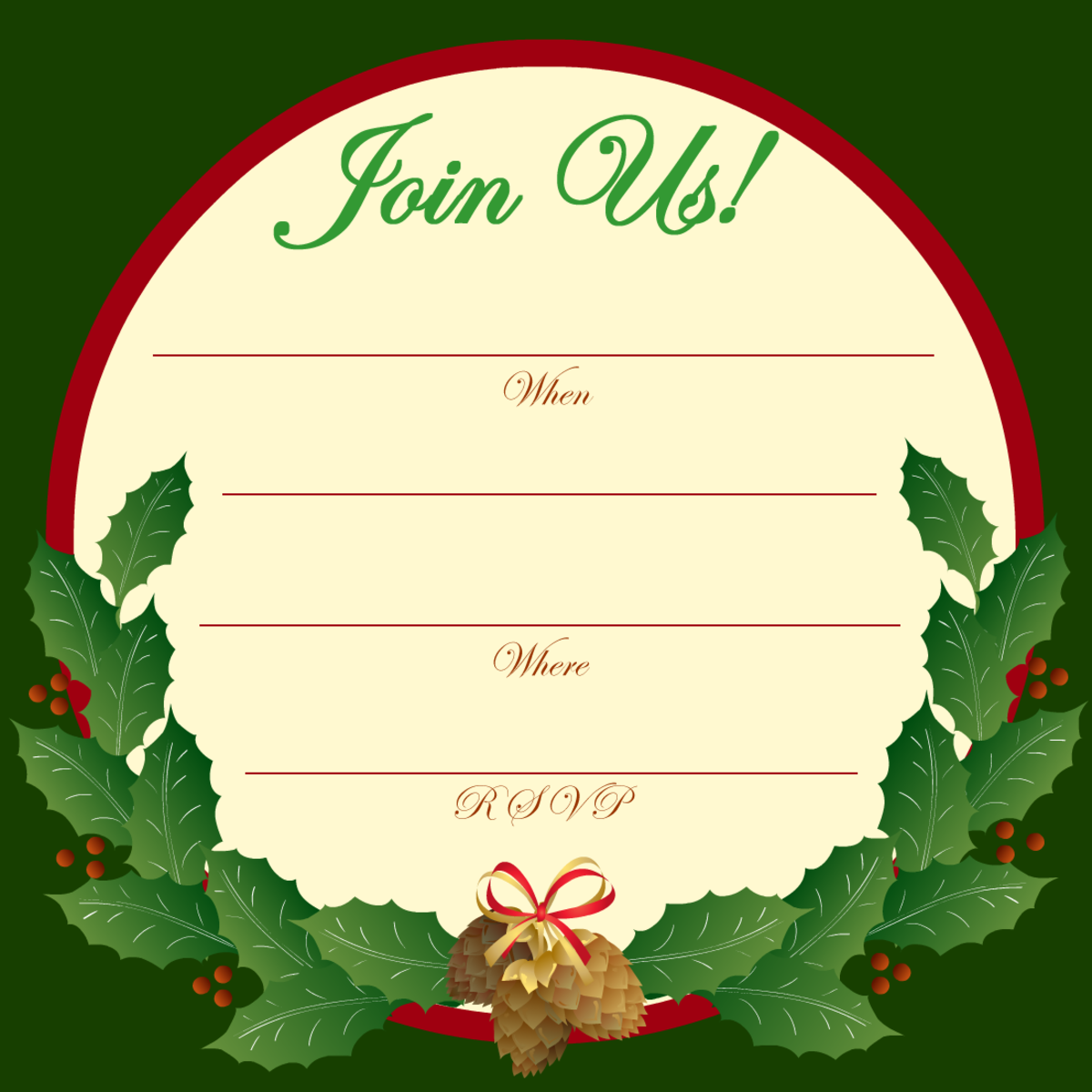 Free Christmas and New Year party invitations
