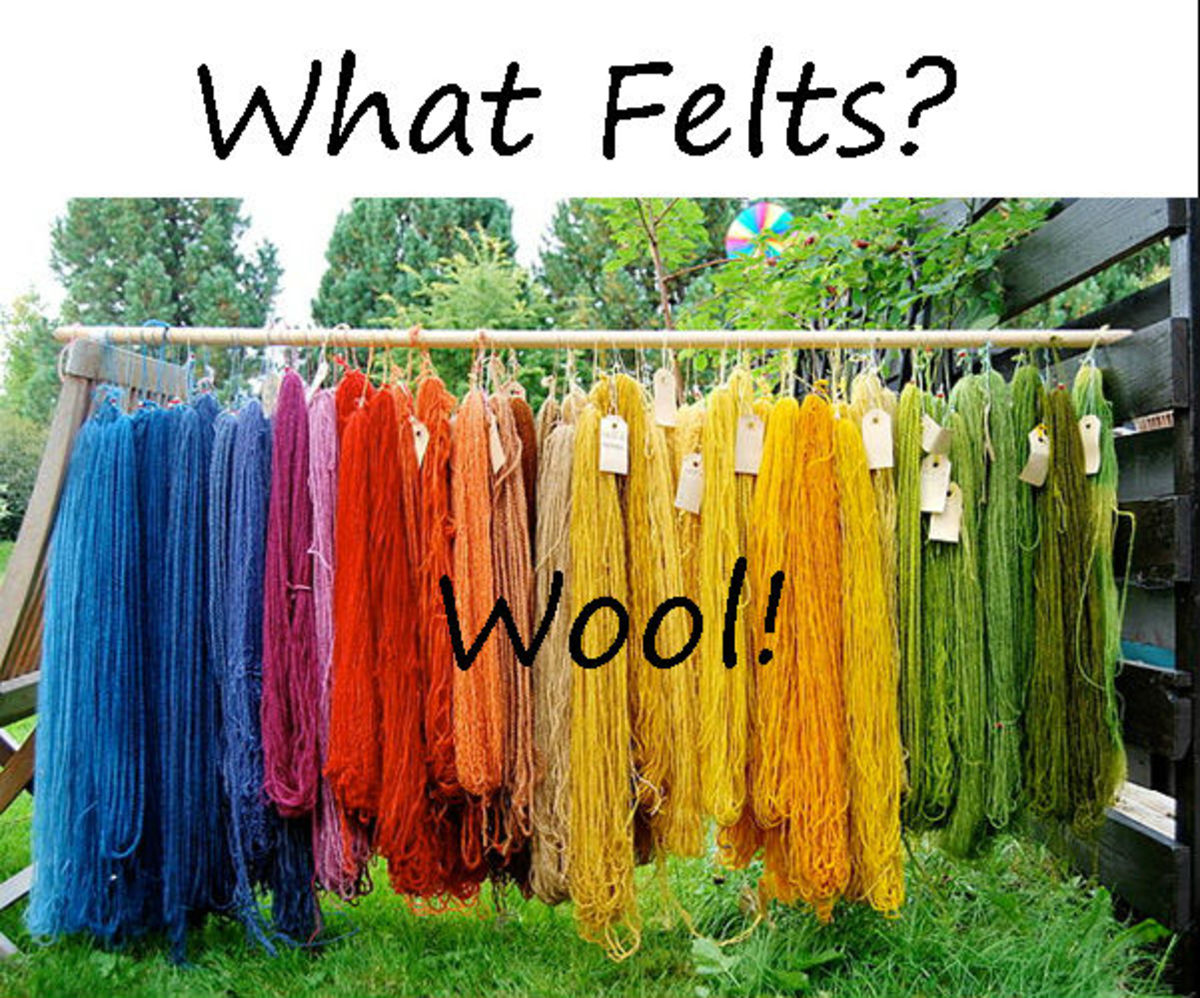 Wool Yarn Felts Beautifully