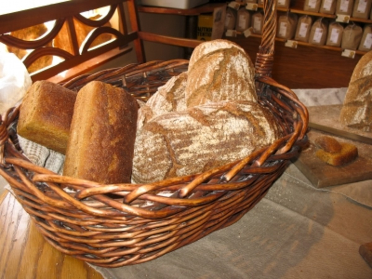 Artisan Breads in a Basket