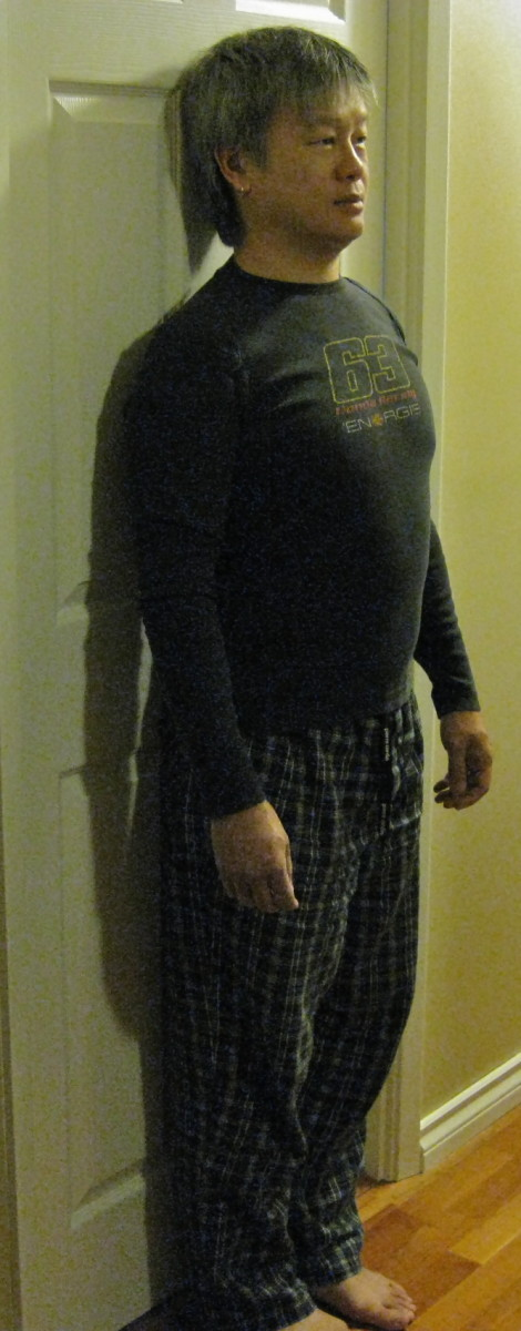 Against the wall/door posture check.