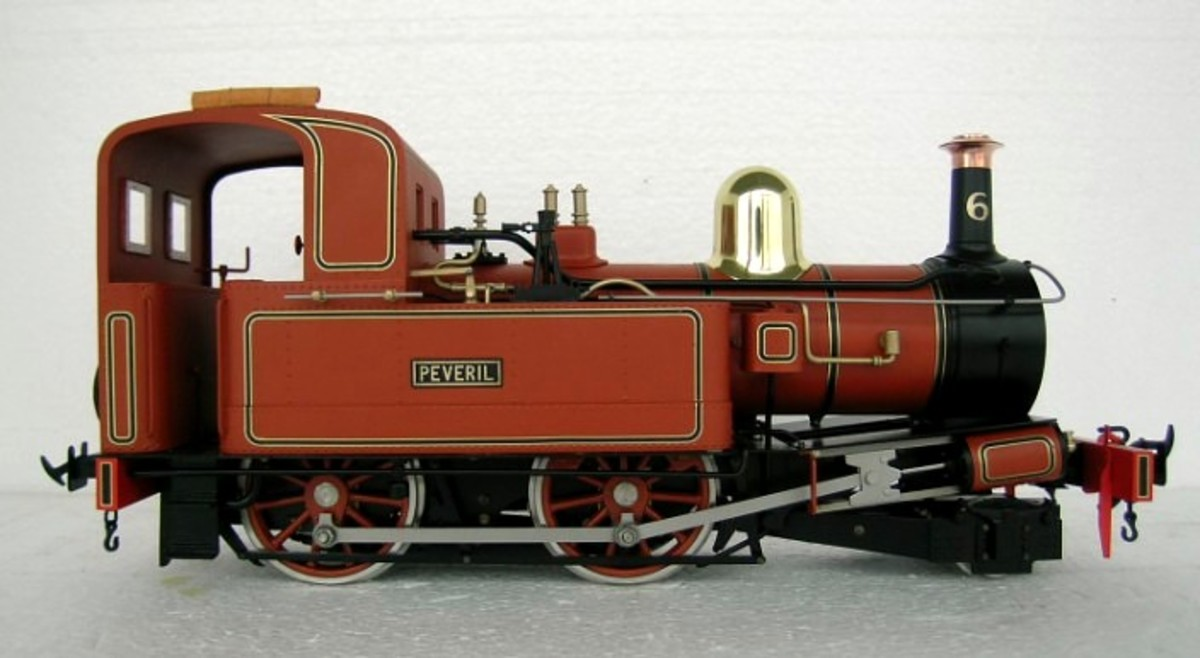 One of the Isle of Man Railway's famous Beyer, Peacock 2-4-0T steam locomotives for G scale garden railways from manufactured by Accucraft UK - image Accucraft/TrackShack