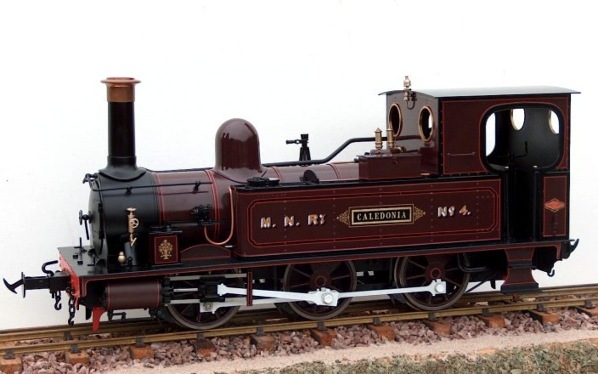 G Scale for the garden model of Manx Northern Railway Dubs built 0-6-0T 'Caledonia'  - manufactured by Accucraft UK - image Accucraft/TrackShack