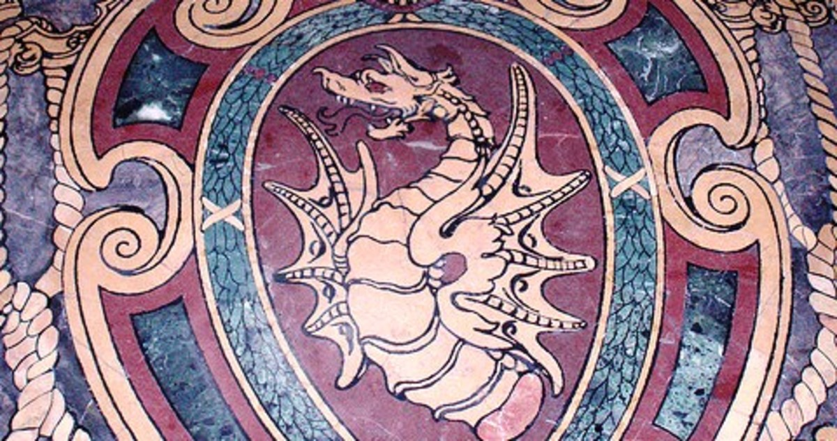 Sforza dragon on the floor of St. Peter's Basilica, Rome