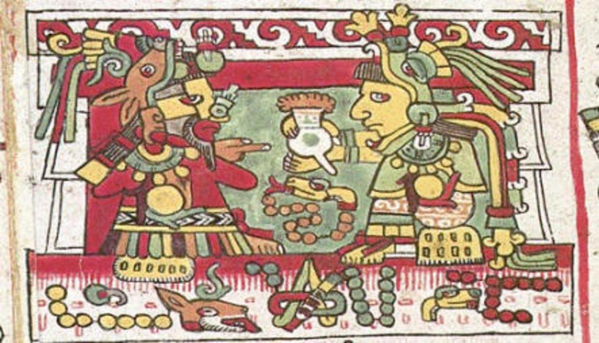 Quetzalcoatl brings cacao