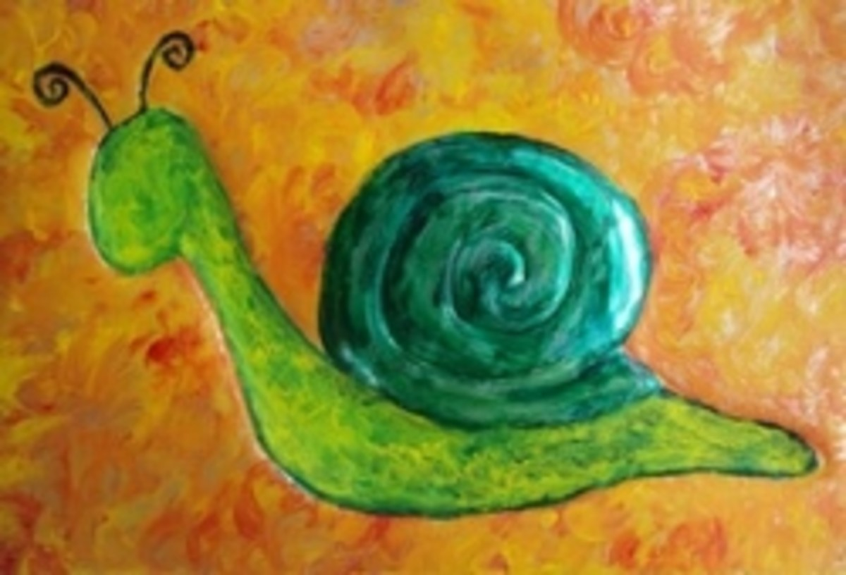 Green Snail, Metal African Art by Injete Chesoni