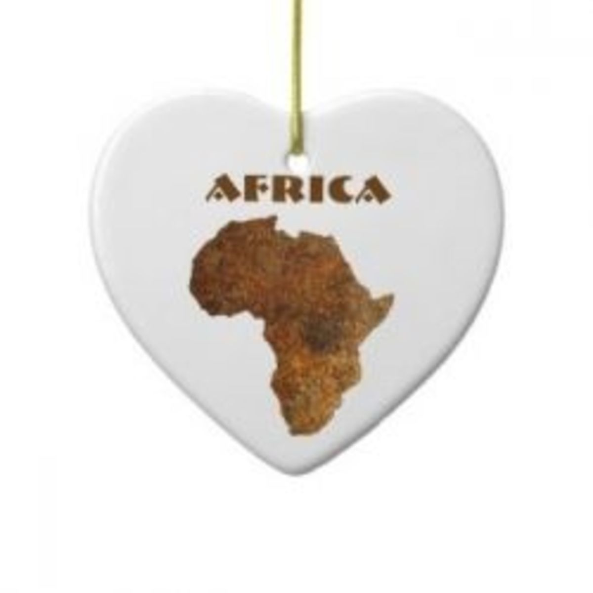 African Map Love Heart Holiday Ornament at Zazzle.com