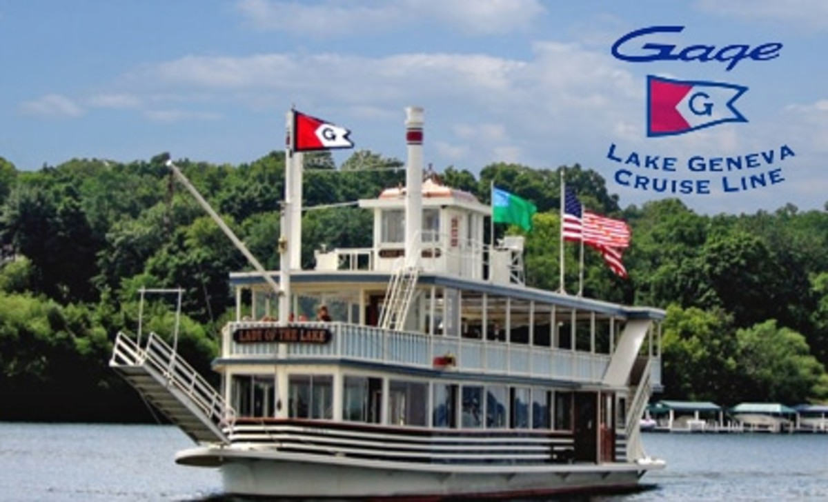 Gage Marine Cruise Line Boat Available on Geneva Lake Wisconsin