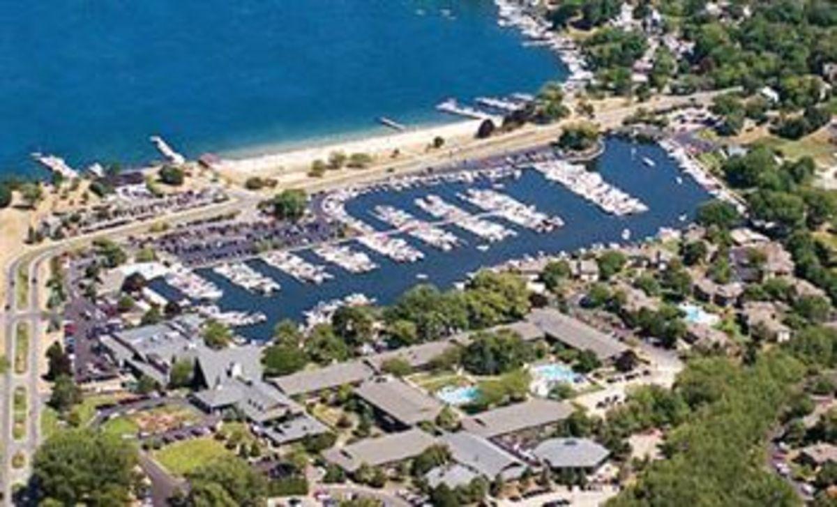 Marina on the east side of Geneva Lake, Fontana, Wisconsin