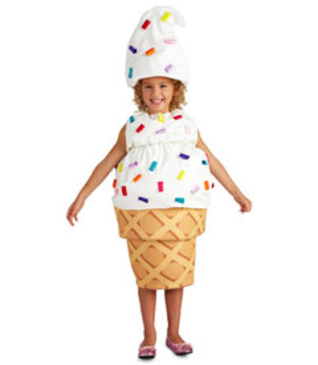 ice cream cone costume on a little girl - cute!