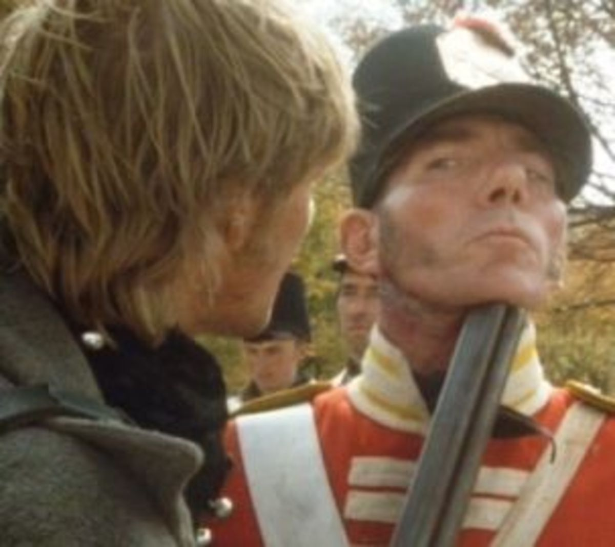 Sean Bean and Pete Postlethwaite in Sharpe