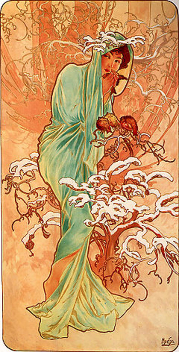 "Alphonse Mucha - ""Winter"" (1896)"