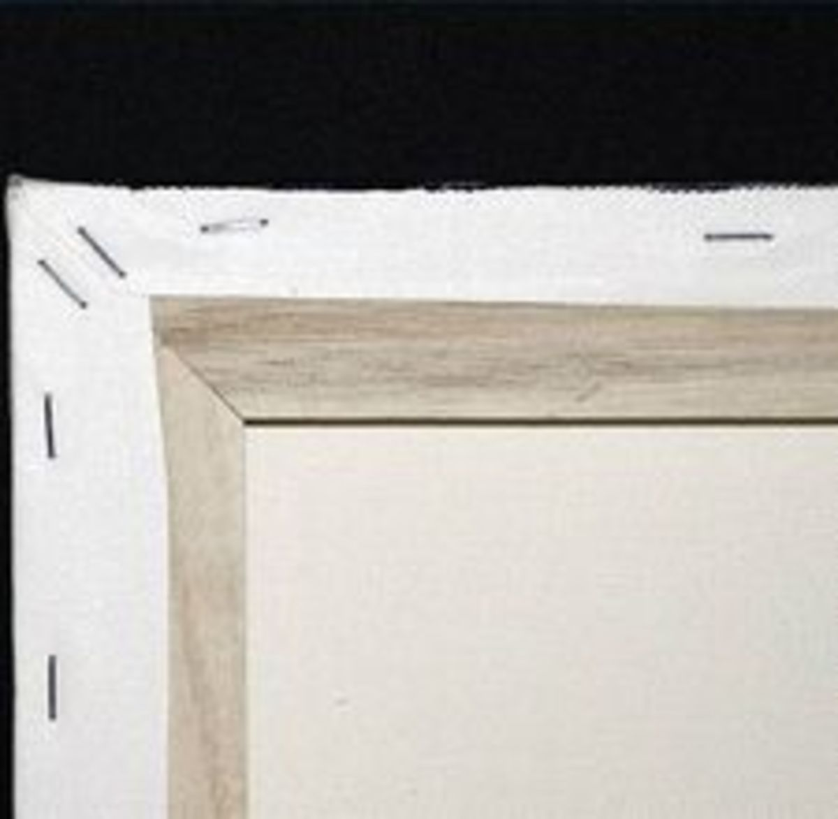 Canvas stretched over a wood frame
