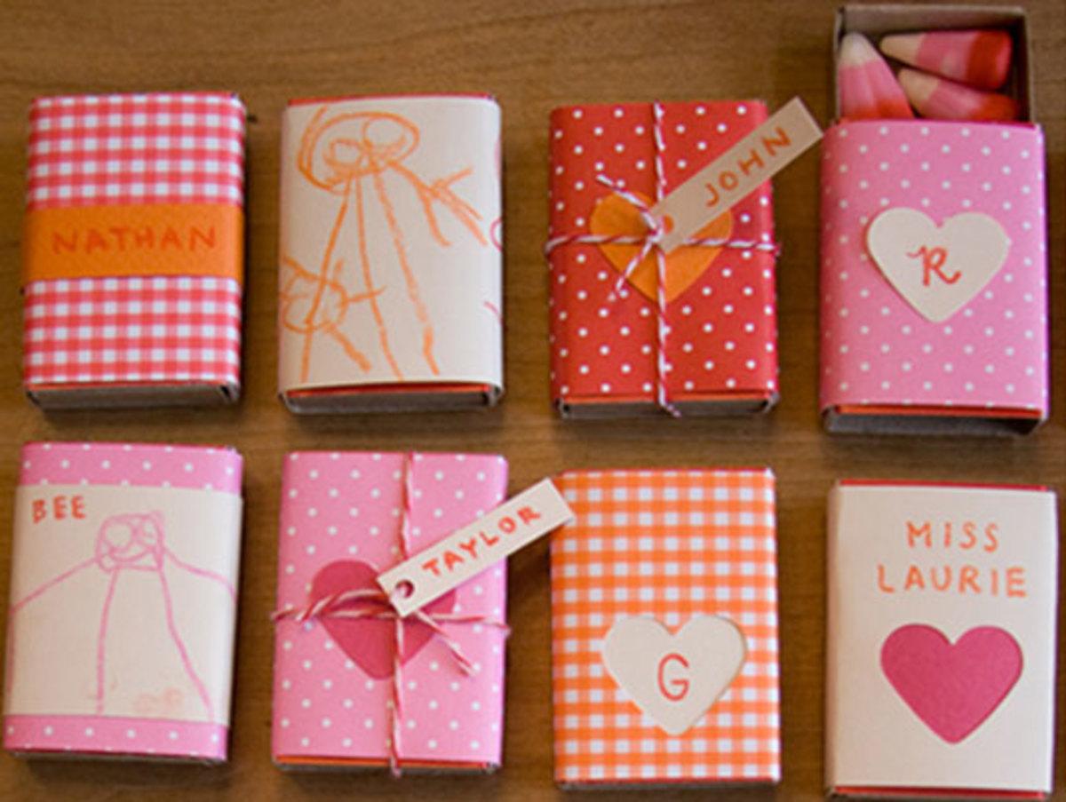 matchbox Valentine's Day treats