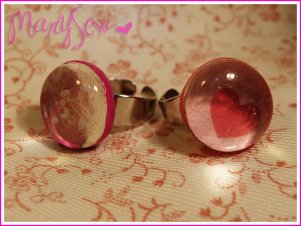 Flat Glass Marble Rings- Valentine's Day!